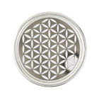 Flower Of Life / Blume des Lebens - silver punched Lapel Pin