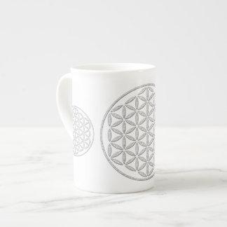 Flower Of Life / Blume des Lebens - stamp white Tea Cup