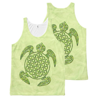 Flower Of Life / Blume des Lebens - turtle green All-Over-Print Tank Top