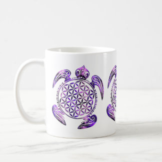 Flower of Life / Blume des Lebens - turtle purple Coffee Mug