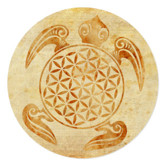 Flower of Life / Blume des Lebens - turtle stone Card