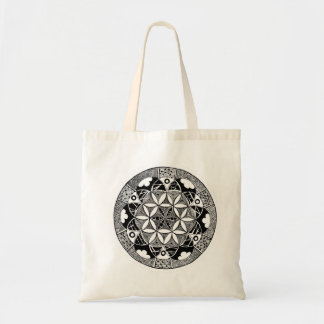 Flower of Life budget tote
