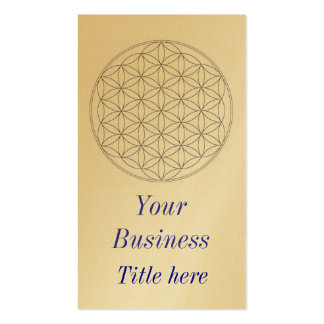 flower of life business card template