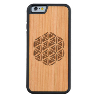 Flower of Life Carved Cherry iPhone 6 Bumper