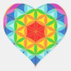 Flower of Life Chakra10 Heart Sticker