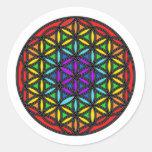 Flower of Life Chakra2 Round Sticker