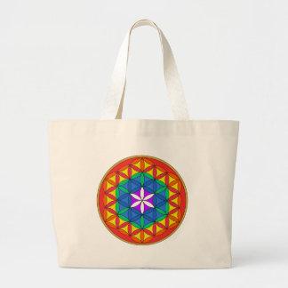 Flower of Life Chakra7 Canvas Bag