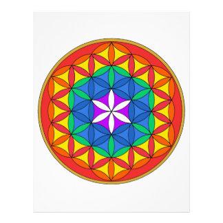 Flower of Life Chakra7 Letterhead