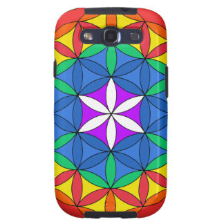 Flower of Life Chakra7 Samsung Galaxy S3 Covers