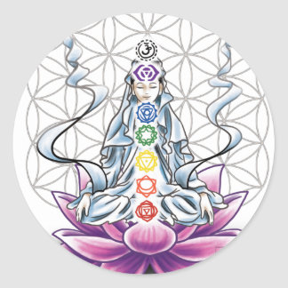Flower of life, chakra, goddess sticker