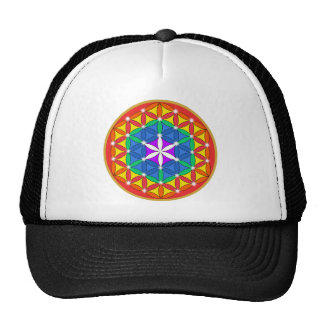Flower of Life Chakra Sparkle Trucker Hat