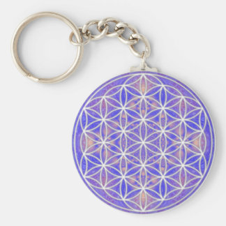 Flower of Life (Color 3) Basic Round Button Keychain