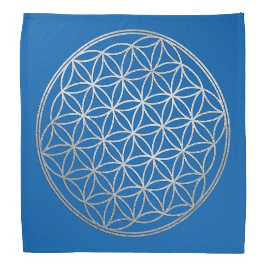 Flower of Life Crystal Grid Silver Look Any Colour Bandana