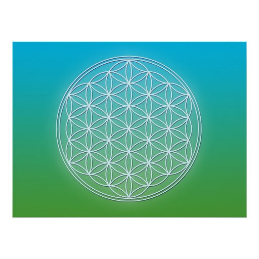 Flower of Life - Crystals Poster