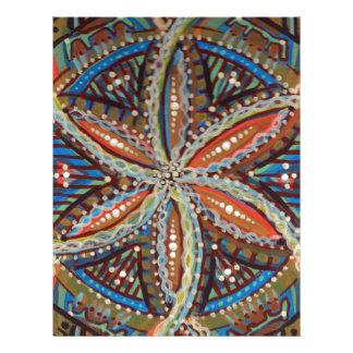 Flower of Life Earthy Tribal Mandala Letterhead Design