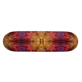 Flower of Life / Fractal Personalized Spiritual Custom Skateboard