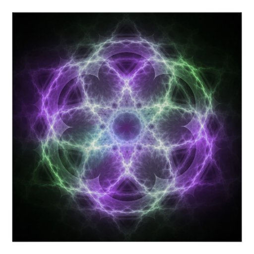 Flower of Life Fractal - Sacred Geometry Poster