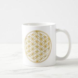 FLOWER OF LIFE gold Coffee Mug