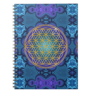Flower Of Life - gold - fractal 1 Notebooks