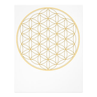 Flower of Life Gold Line Personalized Letterhead