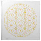 Flower of Life Gold Line Napkin