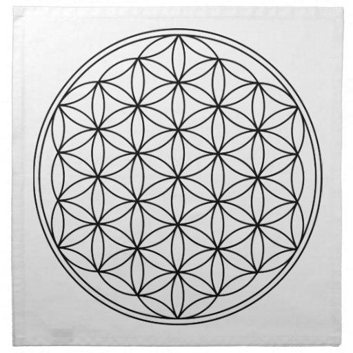 Flower of Life Grid Cloth Napkins