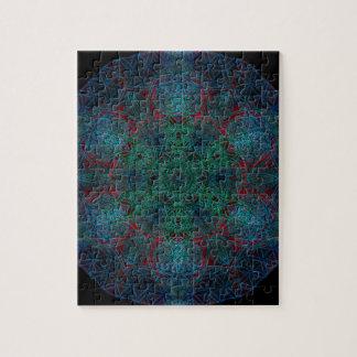 Flower of Life Hexagon Mandala Jigsaw Puzzle