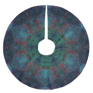 Flower of Life Hexagon Mandala Tree Skirt