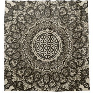 Flower of life in  mandala on canvas