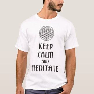 Flower of Life - KEEP CALM and MEDITATE T-Shirt