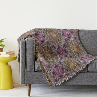 Flower Of Life - knitting seamless pattern V Throw