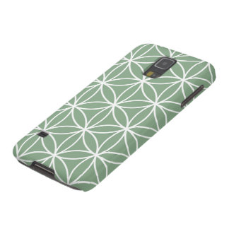 Flower of Life Large Pattern White on Green Galaxy S5 Case
