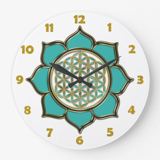 FLOWER OF LIFE - lotus + clock face numbers