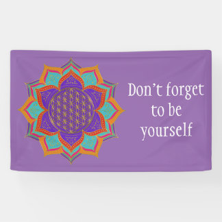 Flower of Life - LOTUS ornaments gold I Banner