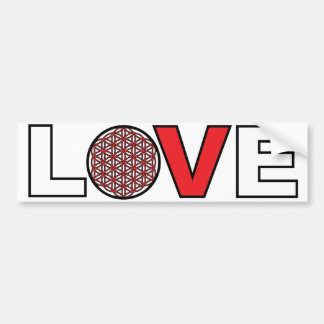 Flower of Life Love bumper sticker