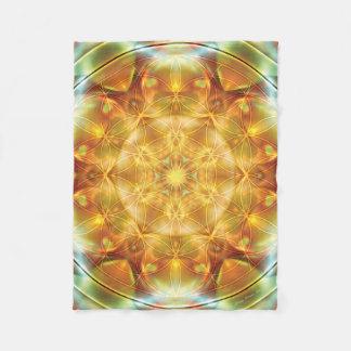 Flower of Life Mandala 16 Fleece Blanket