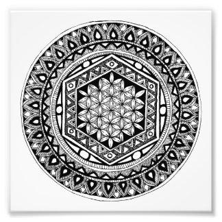Flower of life mandala art photo