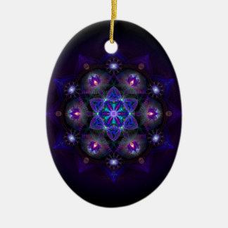 Flower Of Life Mandala Ceramic Ornament