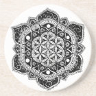 Flower of Life Mandala Coaster
