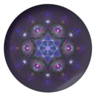 Flower Of Life Mandala Dinner Plates