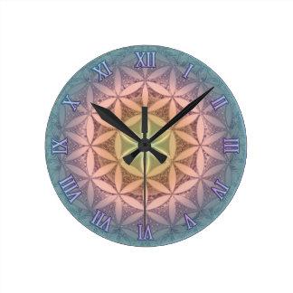 Flower of Life Mandala Round Clock