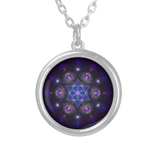 Flower Of Life Mandala Silver Plated Necklace