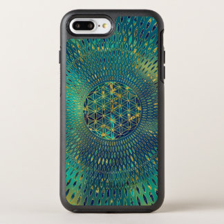 Flower of life Marble and gold OtterBox Symmetry iPhone 8 Plus/7 Plus Case