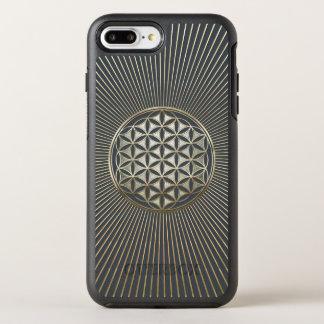 Flower of life metallic embossed OtterBox symmetry iPhone 8 plus/7 plus case