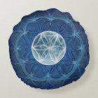 Flower of Life Moon Mandala Meditation Pillow
