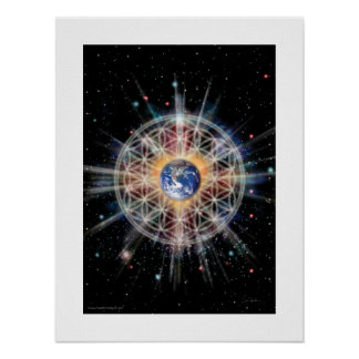 Flower of Life on Earth Poster
