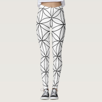 Flower of Life Pattern Leggings
