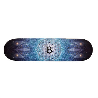 Flower of Life / Personalized Spiritual Gift Skateboard
