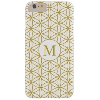Flower of Life Ptn (Personalised) – Gold on White Barely There iPhone 6 Plus Case