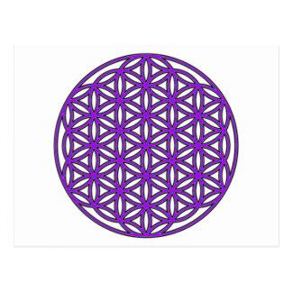 Flower of Life Purple Postcard